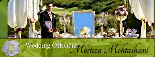 Persian Wedding Officiant Morteza Mohtashami